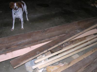 Raw Oak Timbers